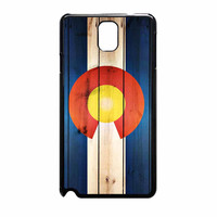 Colorado State Flag Wood Design Samsung Galaxy Note 3 Case