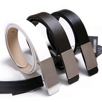 Simple Casual Faux Leather Belt