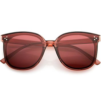 Classy High Temple Arms Cat Eye Horn Rimmed Sunglasses D010