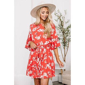 The Flower Child Floral Half Sleeve Dress