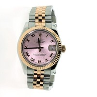 ROLEX DATEJUST LADIES TWO TONE ROSE GOLD & STAINLESS STEEL JUBILEE 26MM WATCH