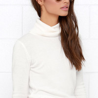 Comin' Up Cozy Ivory Turtleneck Sweater