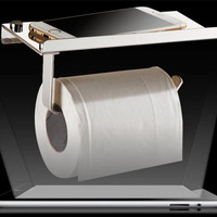 Stainless steel 304 bathroom paper phone holder with shelf bathroom Mobile phones towel rack toilet paper holder tissue boxes