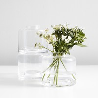 LSA International Stack Vase Trio Clear
