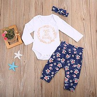 Girls Is'nt she Lovely  Romper Set 3 Pieces