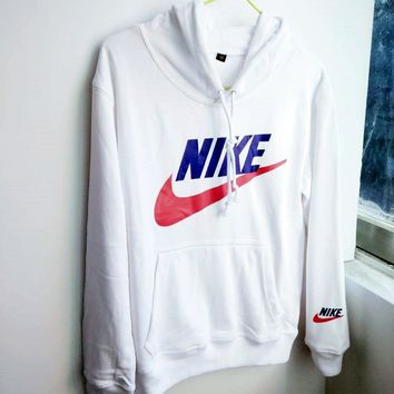 NIKE Women Men Fashion Long Sleeve Print Hoodie Top Sweater Sweatshirt I