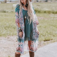 She Swings Lace Layering Top - Teal