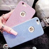 Flash Glitter TPU Cute Candy Case For iphone 7 Case For iphone7 6 6S Plus 5 5S Phone Cases Crystal Bling Soft Back Cover Capa -0315