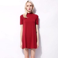 Vintage Mini Mock Shift Dress