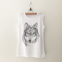 Wolf T-Shirt womens gifts womens girls tumblr hipster band merch fangirls teens girl gift girlfriends present blogger