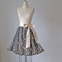 Circle skirt / Lace  / Black  / Pleated /  by AtelierSignature