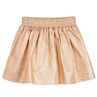 Little Marc Jacobs Girls Fancy Gold Skirt