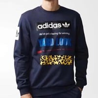 Adidas Fashion Casual Plus Velvet Top Sweater Pullover