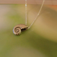Ariel's silver turban shell sterling silver necklace, the little mermaid