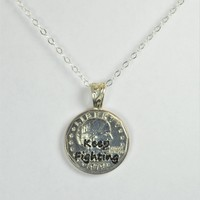 Keep Fighting Necklace Pendant