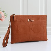 Dior Women Fashion Leather Clutch Bag Satchel