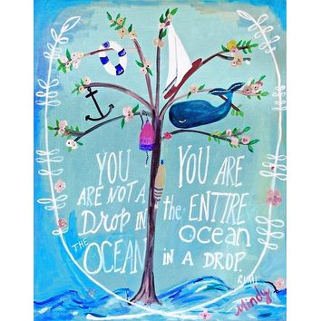 The Entire Ocean Greeting Card