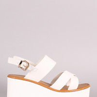 Crisscross Lug Sole Flatform Wedge
