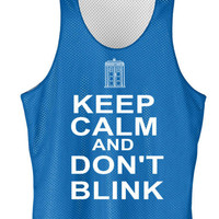 Keep calm and dont blink mesh jersey