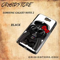 Anakin Skywalker Darth Vader Hello Kitty Star Wars Black White Snap On 3D For Samsung Galaxy Note 2 Case