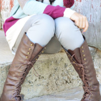 RESTOCK: Fight For Your Right Combat Boots: Dark Brown