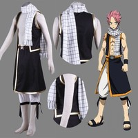 Anime Fairy Tail Natsu Dragneel Scarf Cosplay Costume Toy Gift free shipping