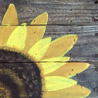 Wood Pallet Sign- Hand Painted Sunflower, pallet art