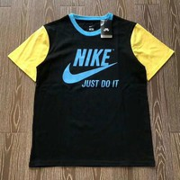 NIKE Woman Men Fashion Print Tunic Shirt Top Blouse-1