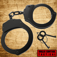 "Real ""Double-Locking"" Police Handcuffs - Military Edition"