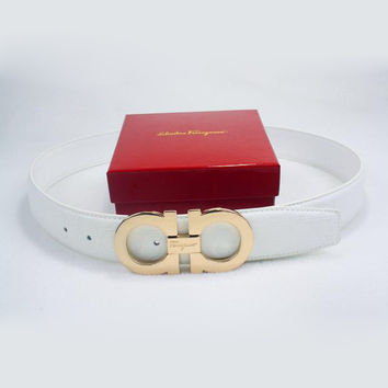 Perfect Ferragamo Woman Men Fashion Smooth Buckle Belt Leather Belt
