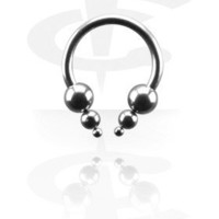 Micro Circular Barbell with Pyramids[Surgical Steel 316L] - Crazy Factory Piercing