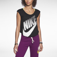 Nike Signal Cropped Women's T-Shirt - Black