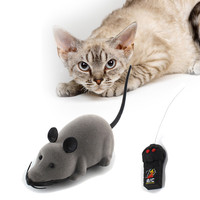 2016 3 Colors Cat Toys Remote Control Wireless Simulation Plush Mouse RC Electronic Rat Mouse Mice Toy For Pet Cat Toy Mouse