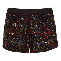 Ruby Embellished Front Shorts - Spotted  - Collections