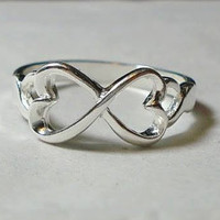 Sterling Silver .925 Infinity Ring - Size 8 - Stamped .925