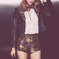 Free People Womens Time To Shine Short