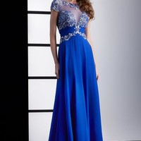 Jasz Couture Sleeved Dress 5425