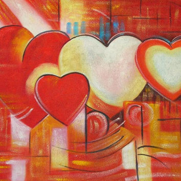 All Hearts Oil Painting