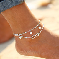 New Barefoot Sandals Enkelbandje Turquoise Beads Boho Foot Jewelry Beach Anklet Ankle Bracelet Anklets for Women Barefoot