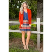 Forget Me Not Cardigan-Burnt Orange
