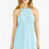 Silence + Noise Marci Carved-Neck Ponte Mini Dress