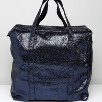 Bershka Glitter Tote Bag at asos.com