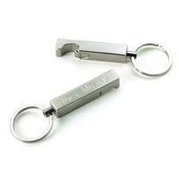 Stainless Steel Keychain and Bottle Opener