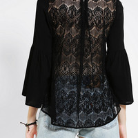 Urban Outfitters - Staring At Stars Lace-Back Bell-Sleeve Top