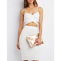 Textured Cut-Out Crop Top