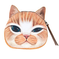Tan Colored Cat Coin Purse