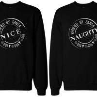 Nice and Naughty Matching BFF Sweatshirts - 365 Printing Inc
