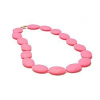 Chewbeads Hudson Necklace in Punchy Pink