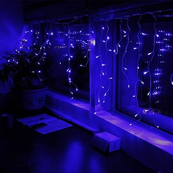 Novelty Lights, Inc. CGWA50/2.5-W-BL Commercial LED Christmas Mini Light Set, Blue, White Wire, 50 Light, 11' Long, Connect 43