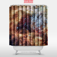 Hubble Space Star Cluster on Collision Course Shower Curtain Home 018